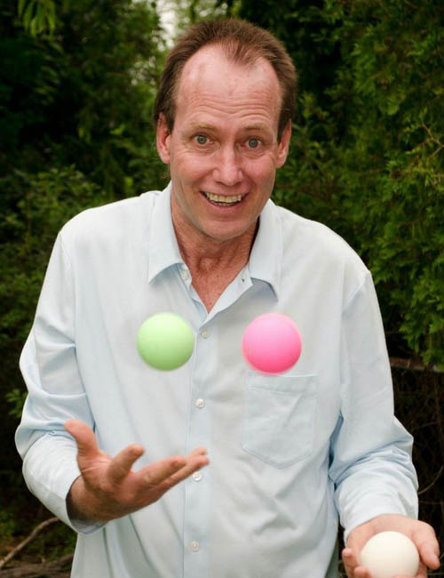 kit summers, motivational speaker and author, juggling